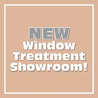 New Window Treatment Showroom for custom window blinds, shades and shutters. Graber, Levolor and Hunter Douglas window fashions.